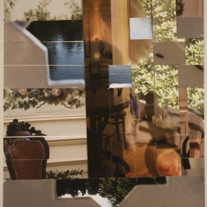 SELF-PORTRAIT AT HET LOO PALACE, photo collage Phyllis Odessey (5 x 7 inches)