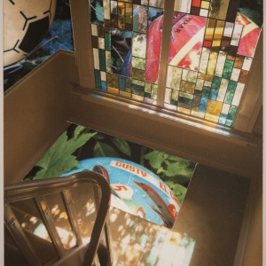 REFLECTED LIGHT, photo collage Phyllis Odessey, (4 x 6)