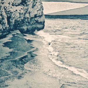 Black Beach, Iceland, Cyanotype with Gallic acid toning