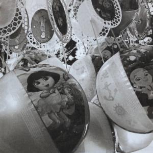 Balloons, France, Salt Print