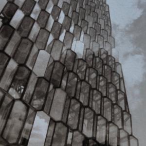 Harpa Concert Hall, Reykjavik, Iceland, Salt print