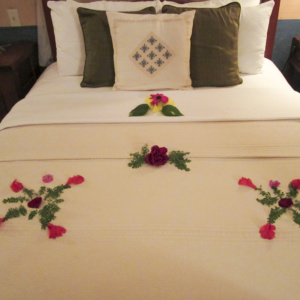 Flowers on Bed